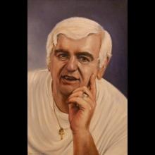 Namaľovanie vlastného portrétu talentovaným umelcom I.Jakušovským