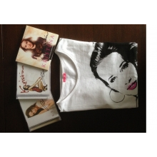 Hudobný balíček CD s tričkom a podpisom speváčky Kristíny