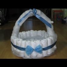 Torta alebo košík z plienok na želanie