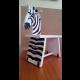 Zebra (stolček s patinou po ničivom ohni)