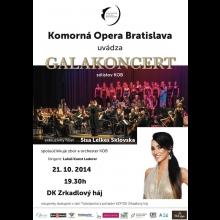 2 vstupenky na Galakoncert sólistov Komornej Opery Bratislava
