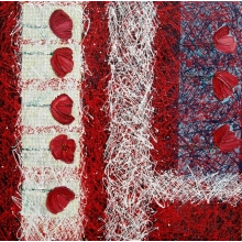 Tulipány (80x80, plátno, akryl, komb. technika)