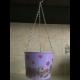 Závesný zinkový kvetináč - fialový