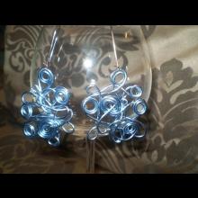 Naušnice z drôtu