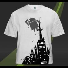 Tričko s motívom Androida
