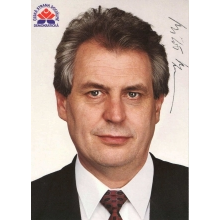 Podpis českého prezidenta Miloša Zemana