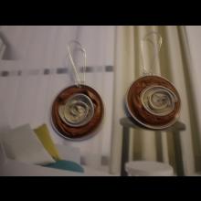 orieškové naušničky