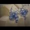 Naušnice z drôtu modré