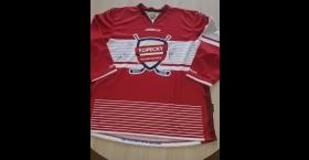 Hokejový dres s podpismi hviezd Tatara, Kopeckého, Baránka a Chára
