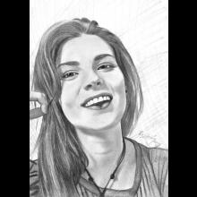 Portrét z fotky A3 čiernobiely