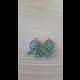 Strieborno-modré náušnice