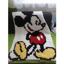 Hačkovaná deka Mickey Mouse