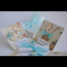 Darčeková krabička na krstiny s miestom na peniažky