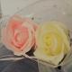 Dekoračné prírodné mydlo v tvare ruže.