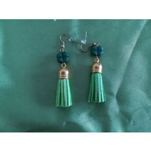 Náušničky so zeleným štvorlístkom