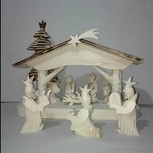 ručne vyrezávaný Betlehem