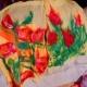 Tulipánová lúka -  plstený šál