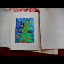 Hodvábna Vianočná pohľadnica