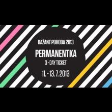 Bažant Pohoda 2013 – Pernamentka 3-dňový lístok v termíne 11.7.-13.7.2013