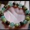 Energetický náramok - tyrkys žltý, avanturín ín zelený, tigrie oko