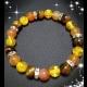 Energetické náramky- jantár slnečný, karneol, tigrie oko