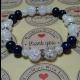 Energetickė náramky - praskaný krištál, lapis lazuli