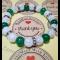 Energetický náramok - praskaný krištál, jadeit smaragdový