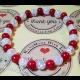 Energetický náramok- praskaný krištál, červený korál