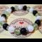 Energetický náramok- praskaný krištál, zelený avanturín a ónyx