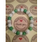 Energetický náramok- praskaný krištál, zelený jadeit
