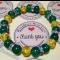 Energetický náramok - smaragdový jadeit, slnečný jantár
