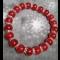 Energetický náramok - červený korál