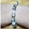 Energetický náramok - jaspis dalmatín, sivý jaspis, opalit