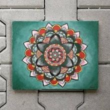 Mandala lásky-akryl na plátne