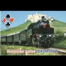 108 hracích kariet - historické parné lokomotívy