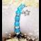 Energetický náramok -modrý avanturín, modrý jadeit