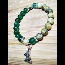 Energetický náramok - smaragdový jadeit, žltý tyrkys