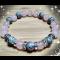 Energetický náramok - ruženín, sivý jaspis