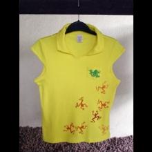 CF Tričko dámske s golierikom,žlté