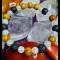 Náramok - praskaný krištál, drevitý jaspis, ónyx