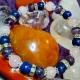 Náramok - ruženín, lapis lazuli, ametyst