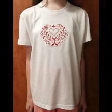 Dámske tričko s vyšitým ľudovým vzorom - Veľkosť: XL