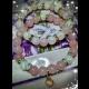 Náramky - ruženín, praskaný krištál