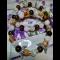 Náramky - béžový jadeit, tigrie oko, praskaný krištál
