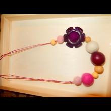Veselé korálky - fialové