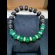 Energetický náramok - láva, smaragdový jadeit