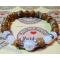 Energetický náramok- praskaný krištál, drevitý jaspis