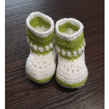 háčkované papučky 0-6 mesiacov