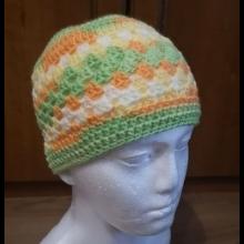 Jarná háčkovaná čiapka