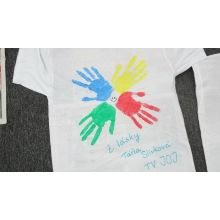 Originálne tričko s podpisom Táni Slivkovej